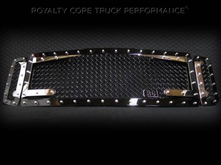 SuperDuty - 2008-2010 - Royalty Core - Ford SuperDuty 2008-2010 RC3DX Black & Chrome Main Grille 3 Piece No Sword