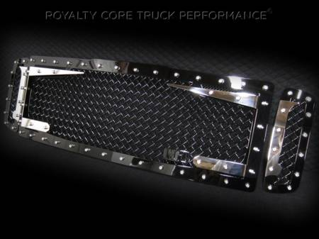 Royalty Core - Ford Super Duty 2008-2010 RC3DX Black & Chrome Main Grille 3 Piece No Sword - Image 2