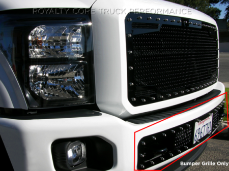 Super Duty - 2011-2016 Super Duty Grilles - Royalty Core - Ford Super Duty 2011-2016 Bumper Grille with License Plate Housing