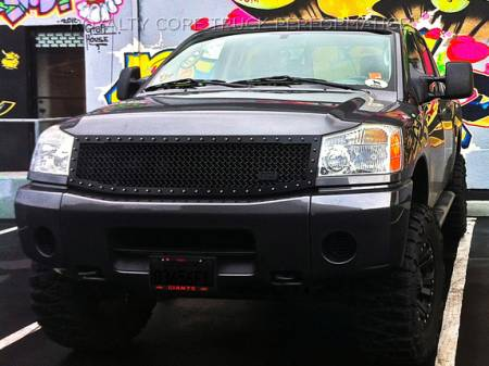 Royalty Core - Nissan Titan 2004-2015 RC1 Full Grille Replacement Satin Black - Image 3