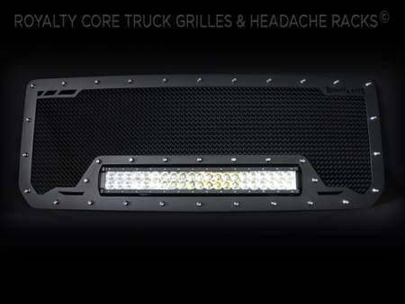 Grilles - RCRXB - Royalty Core - GMC Denali HD 2500/3500 2015-2017 RCRX LED Race Line Grille