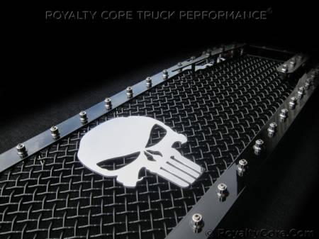 Emblems - Royalty Core - Punisher Skull Chrome