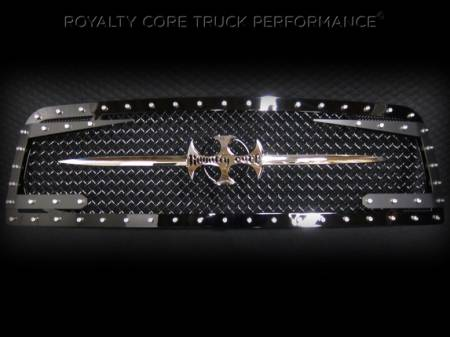 2500/3500/4500 - 2010-2012 - Royalty Core - Dodge Ram 2500/3500 2010-2012 RC3DX Gloss Black Main Grille