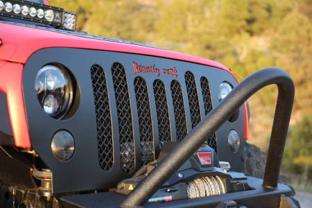 Wrangler - 2007-2016 - Royalty Core - Jeep Wrangler 2007-2016 RCJK Grille Replacement Satin Black