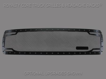 Grilles - RC2 - Royalty Core - Chevy 2500/3500 2011-2014 Full Grille Replacement RC2 Twin Mesh Grille