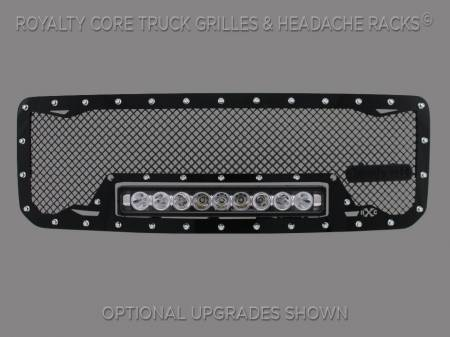 2500/3500 Sierra - 2011-2014 2500 & 3500 Sierra Grilles - Royalty Core - GMC Sierra HD 2500/3500 2011-2014 RC1X Incredible LED Grille