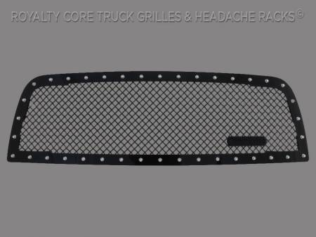 2500/3500/4500 - 2013-2018 - Royalty Core - Dodge Ram 2500/3500 2013-2018 RC1 Main Grille Gloss Black 5.0 Mesh w/ RC1 Badge