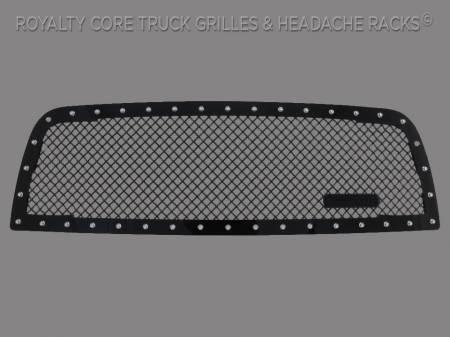 2500/3500/4500 - 2013-2017 - Royalty Core - Dodge Ram 2500/3500 2013-2017 RC1 Main Grille Gloss Black 5.0 Mesh w/ RC1 Badge