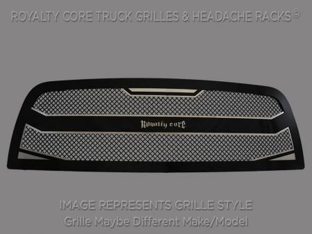 2500/3500 - 2003-2004 - Royalty Core - Royalty Core Chevrolet Silverado Full Grille Replacement 2500/3500 HD 2003-2004 RC4 Layered Grille