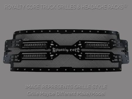 Grilles - RC5X - Royalty Core - Royalty Core GMC Sierra 2500/3500 HD 2015-2016 RC5X Quadrant LED Grille 100% Stainless Steel Truck Grille