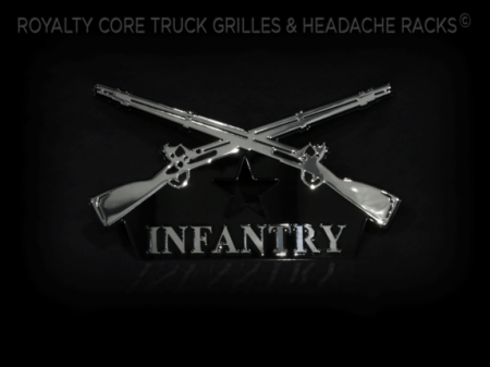 Gallery - CUSTOM DESIGNED LOGOS - Royalty Core - Army Infantry Emblem
