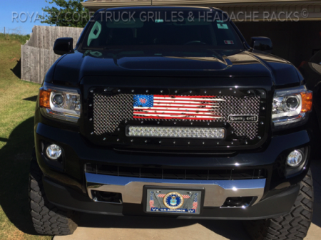 Gallery - Custom Emblems, Logos, and Badges - Royalty Core - Ww American Flag Truck