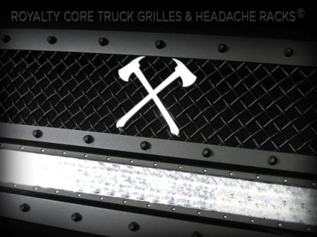 Gallery - CUSTOM DESIGNED LOGOS - Royalty Core - Crossed AXE Emblem