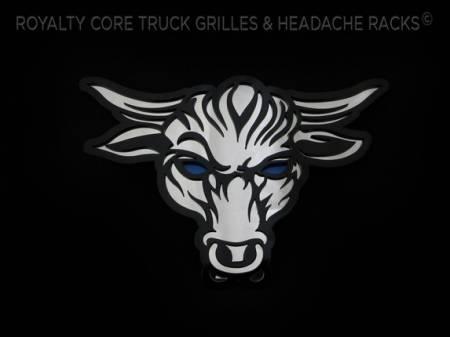 Gallery - CUSTOM DESIGNED LOGOS - Royalty Core - Custom Bull Emblem