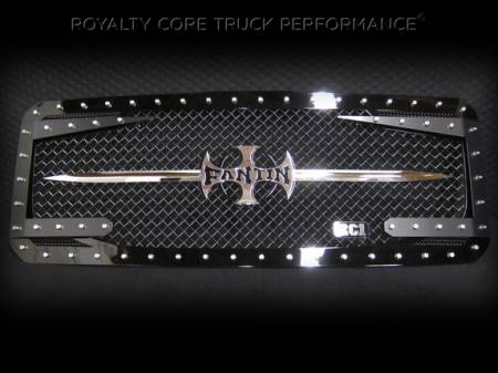 Gallery - Custom Emblems, Logos, and Badges - Royalty Core - Custom Lettering Sword Assembly