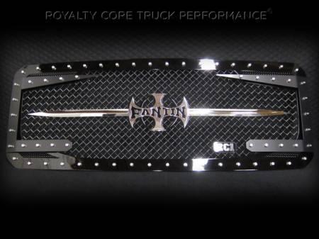 Gallery - CUSTOM DESIGNED LOGOS - Royalty Core - Custom Lettering Sword Assembly
