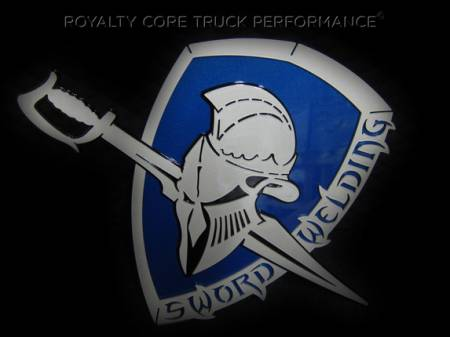 Gallery - CUSTOM DESIGNED LOGOS - Royalty Core - Sword Welding Logo