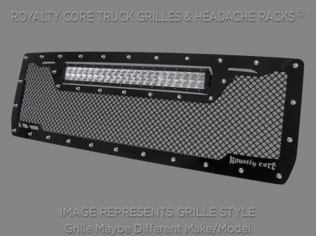 2500/3500 Sierra - 2007-2010 2500 & 3500 Sierra Grilles - Royalty Core - GMC Sierra HD 2500/3500 2007-2010 RCRX LED Race Line Grille-Top Mount LED