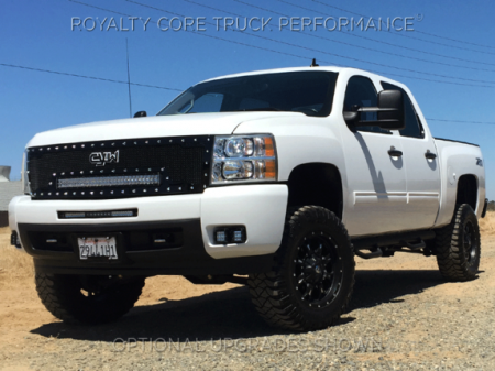 Gallery - RCX LED GRILLES - Royalty Core - 2007-2013 Chevy 1500 RC1X Custom CYW Emblem