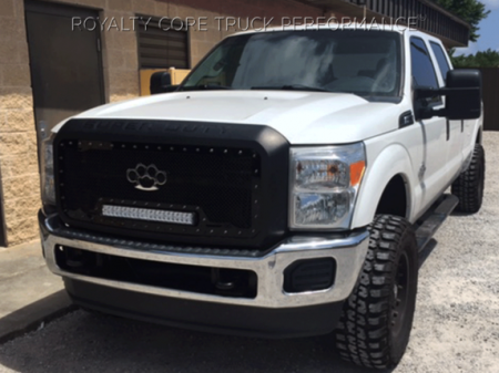 Gallery - RCX LED GRILLES - Royalty Core - 2011-2015 Ford Superduty RC1X w/ Brass Knuckles Logo
