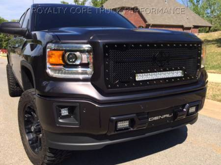 Gallery - RCX LED GRILLES - Royalty Core - 2014 GMC Sierra 1500 RC1X with Sword Assembly