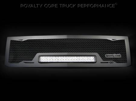 Gallery - RCX LED GRILLES - Royalty Core - 2015 Chevy RC1X Satin Black with No Studs