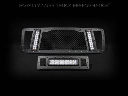 Gallery - RCX LED GRILLES - Royalty Core - Ford F-150 2013-2014 RCX Grille in Satin Black with Matching LED Bumper Grille