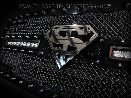 Gallery - RCX LED GRILLES - Royalty Core - Ford Super Duty 2011-2015 RC2X Superman Logo