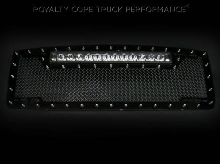 Gallery - RCX LED GRILLES - Royalty Core - GMC Sierra HD 2007-10 RC1X With XPI-12M in Top of Grille