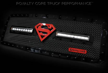 Gallery - RCX LED GRILLES - Royalty Core - 2015 Ford Superduty RC1X with Superman Logo