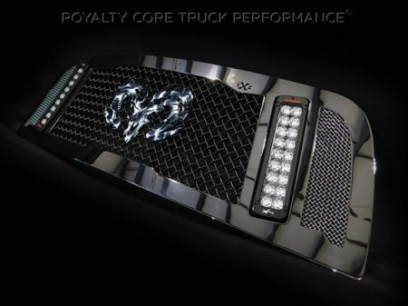 Gallery - RCX LED GRILLES - Royalty Core - 2014 Dodge Ram 2500/3500 RCX with Ram Skull