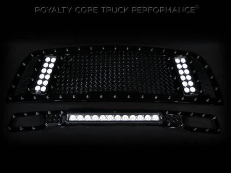 Gallery - RCX LED GRILLES - Royalty Core - 2013-2014 Dodge Ram 2500/3500 RCX with Bumper