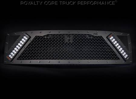 Gallery - RCX LED GRILLES - Royalty Core - Ford Raptor 2009-2014 RCX Explosive Dual LED Grille in Satin Black