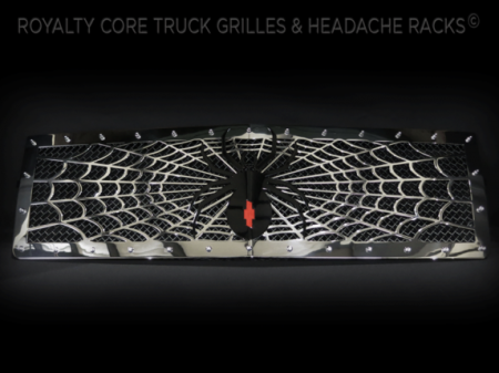 Gallery - CUSTOM GRILLES - Royalty Core - 2014 Chevy 1500 Black Widow