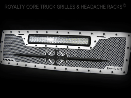 Gallery - CUSTOM GRILLES - Royalty Core - Chevrolet 1500 Z71 2014-2015 Custom RCRX White