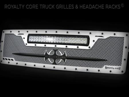 Gallery - CUSTOM GRILLES - Royalty Core - Chevrolet 1500 Z71 2014-2015 Custom RCRX White