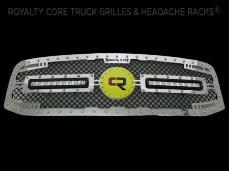 Gallery - CUSTOM GRILLES - Royalty Core - Ram 25/35/4500 2006-2009-RC2X Chrome with Custom Emblem