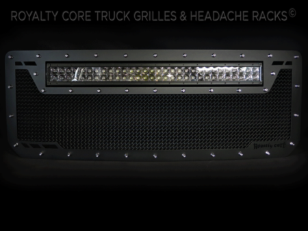 Gallery - CUSTOM GRILLES - Royalty Core - 2016 GMC Sierra HD 2500/3500 RC1X Top Mount Custom