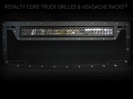 Gallery - CUSTOM GRILLES - Royalty Core - 2016 GMC Sierra HD 2500/3500 RC1X Top Mount Custom