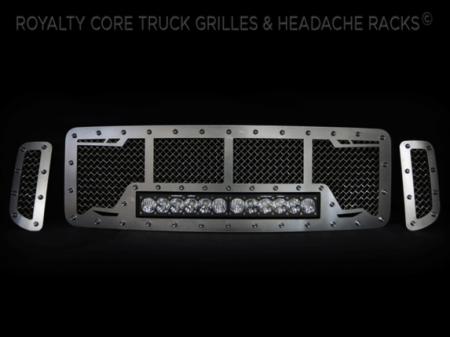 Gallery - CUSTOM GRILLES - Royalty Core - Ford SuperDuty 1999-2004 RC1X Custom Grille with Slates Raw