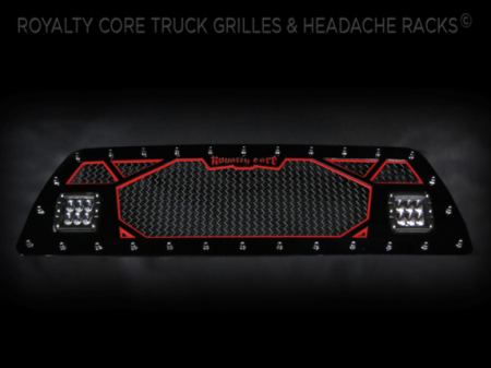 Gallery - CUSTOM GRILLES - Royalty Core - 2007 Toyota Tacoma Custom 2 Part LED Grille