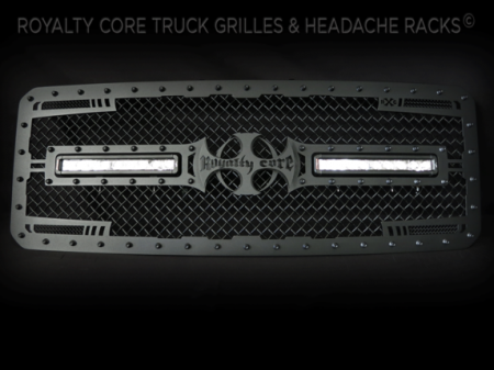 Gallery - CUSTOM GRILLES - Royalty Core - 2011-2016 Ford SuperDuty Satin Black RC2X