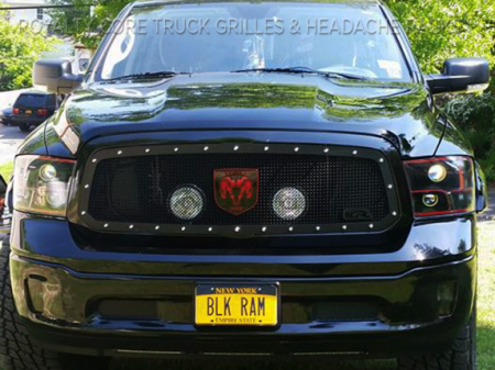 Gallery - CUSTOM GRILLES - Royalty Core - Custom Dodge Ram LED Grille and Logo