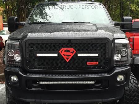 Gallery - CUSTOM GRILLES - Royalty Core - 23144 Ford Super Duty 2011-2015 RC2X Superman Emblem