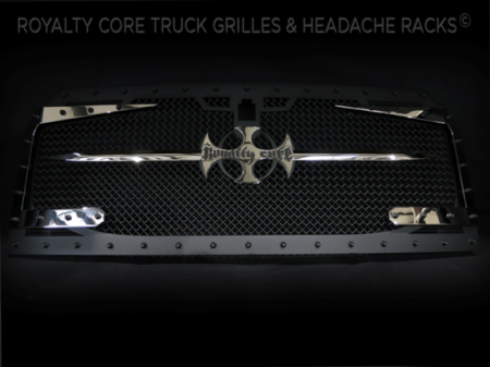 Gallery - CUSTOM GRILLES - Royalty Core - 2015-2016 Ford F-150 RC3DX Satin Black