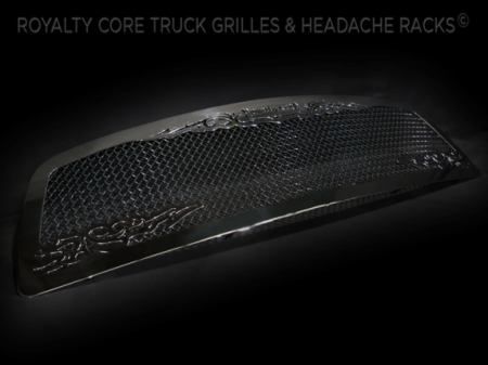 Gallery - CUSTOM GRILLES - Royalty Core - 2009-2012 Ram 1500 RC1 Chrome with Scroll Work