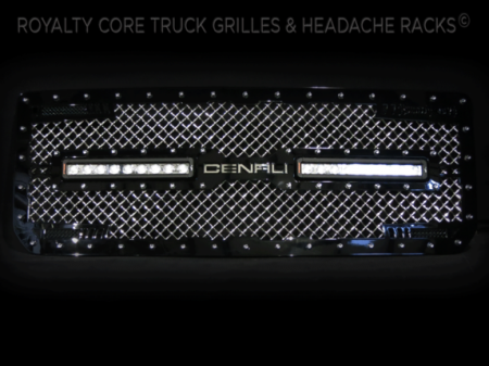 Gallery - CUSTOM GRILLES - Royalty Core - Custom RC2X Design with Integrated Chrome DENALI Emblem