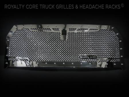 Gallery - CUSTOM GRILLES - Royalty Core - Ford F-150 2015-2016  RC1 Chrome Finish Grille Camera Mount in Frame