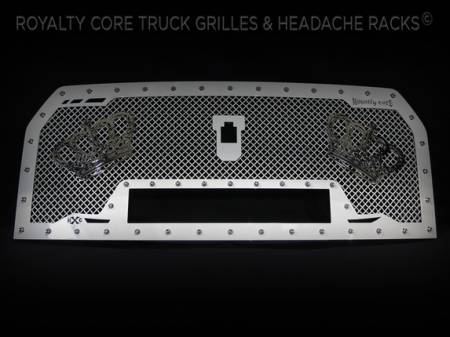 Gallery - CUSTOM GRILLES - Royalty Core - Ford F-150 2016 RC1X White Color Matched