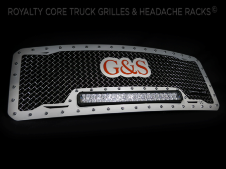 Gallery - CUSTOM GRILLES - Royalty Core - Ford Super Duty 2011-2015 RC1X Custom Color Match and Logo